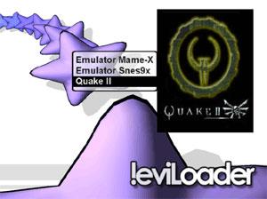 Capture d'ecran du logiciel !eviLoader Menu Disk 1.0