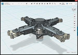Capture d'ecran du logiciel Autodesk 123D Design 2.2.14