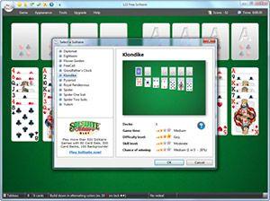 Capture d'ecran du logiciel 123 Free Solitaire 12.0