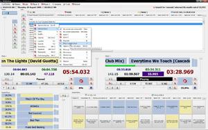 Capture d'ecran du logiciel 2710 DJ 3.2.0