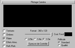 Capture d'écran du logiciel 360 Render World 2.1 fr