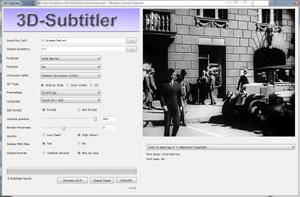 Capture d'ecran du logiciel 3D-Subtitler 2.7.1.0