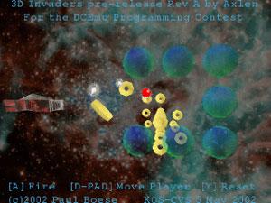 Capture d'écran du logiciel 3D Invaders 1.0 - Nero