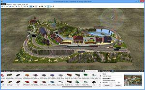 Capture d'ecran du logiciel 3D Train Studio Free 2.4.0.0