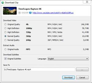 Capture d'ecran du logiciel 4K Video Downloader Portable 4.12.3.3650 fr