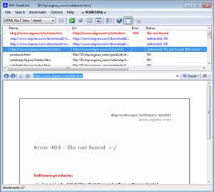 Capture d'écran du logiciel AM-DeadLink 4.7 fr