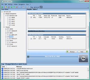 Capture d'ecran du logiciel AVCHD Editor 0.4.4.1