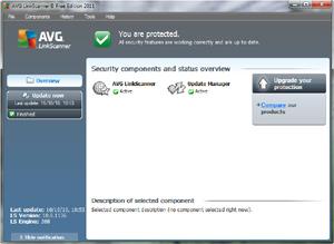 Capture d'écran du logiciel AVG LinkScanner Free Edition 2...