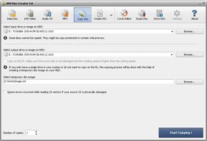 Capture d'ecran du logiciel AVS Disc Creator Free 6.1.8.558 fr