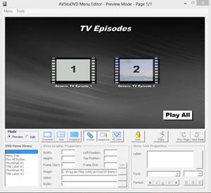 Capture d'ecran du logiciel AVStoDVD Portable 2.8.8