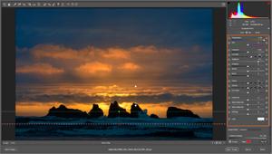 Capture d'écran du logiciel Adobe Camera Raw 10.4