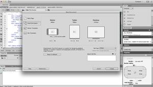 Capture d'écran du logiciel Adobe Dreamweaver CC 18.2 Buil...
