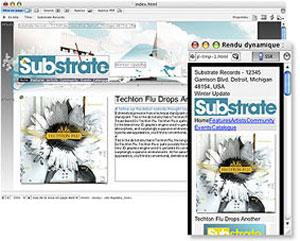 Capture d'écran du logiciel Adobe GoLive CS2 fr