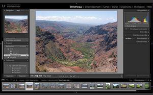 Capture d'écran du logiciel Adobe Photoshop Lightroom CC 2...