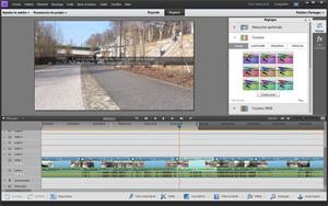 Capture d'écran du logiciel Adobe Premiere Elements 2018 fr