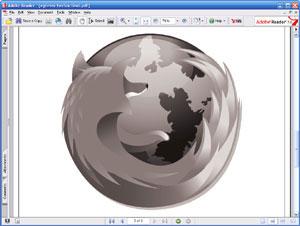 Capture d'écran du logiciel Adobe Reader 9.4.2 fr - Linux
