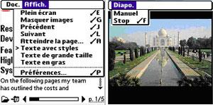 Capture d'ecran du logiciel Adobe Reader 3.0.5 fr - Palm