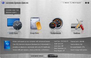 Capture d'écran du logiciel IObit Advanced SystemCare Free...