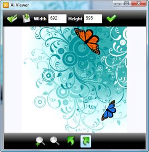 Capture d'écran du logiciel Ai Viewer 3.2