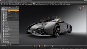 Capture d'ecran du logiciel Autodesk Alias Design 2021