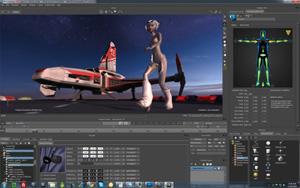 Capture d'ecran du logiciel Autodesk MotionBuilder 2017