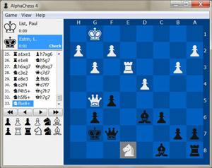 Capture d'écran du logiciel AlphaChess 4.0.3