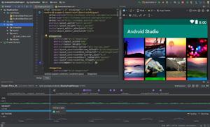 Capture d'écran du logiciel Android Studio 3.1.3 Build 173...