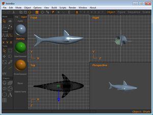 Capture d'ecran du logiciel Anim8or 1.0