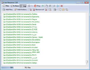 Capture d'écran du logiciel Ant Renamer Portable 2.12.0 fr