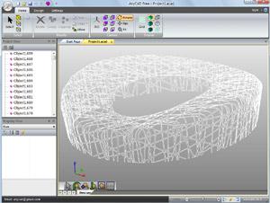 Capture d'écran du logiciel AnyCAD Free 1.4