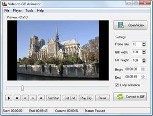Capture d'ecran du logiciel Any GIF Animator 2.6