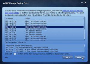 Capture d'écran du logiciel AOMEI Image Deploy 1.0