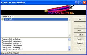 Capture d'écran du logiciel Apache HTTP Server 2.4.25