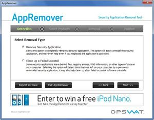 Capture d'ecran du logiciel AppRemover 3.1.34.1