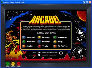 Capture d'écran du logiciel Arcade Classic Arcade Pack 5.10
