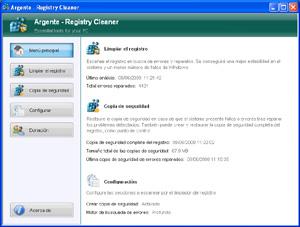 Capture d'écran du logiciel Argente - Registry Cleaner 3.1...