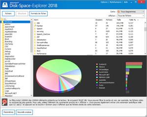 Capture d'ecran du logiciel Ashampoo Disk-Space-Explorer 2018