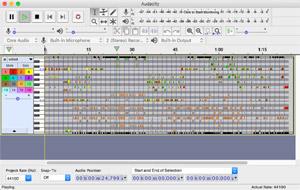 Capture d'ecran du logiciel Audacity 2.3.2 fr - MacOS