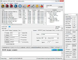 Capture d'ecran du logiciel AudioCoder 0.8.46.5866 fr