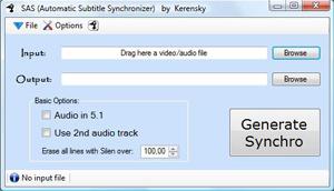 Capture d'écran du logiciel Automatic Subtitle Synchronize...