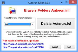 Capture d'écran du logiciel Autorun Killer 2.1.0.0