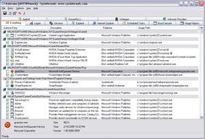 Capture d'écran du logiciel Autoruns Portable 13.82