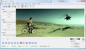 Capture d'écran du logiciel Avidemux 2.7.0 fr