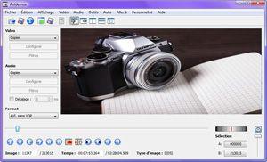 Capture d'ecran du logiciel Avidemux Portable 2.7.8 fr