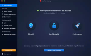 Capture d'ecran du logiciel Avira Security 1.19 fr - Mac