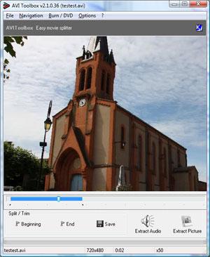 Capture d'ecran du logiciel AVIToolbox 2.8.3.63 fr