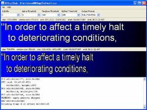 Capture d'ecran du logiciel BDSup2Sub 5.1.2