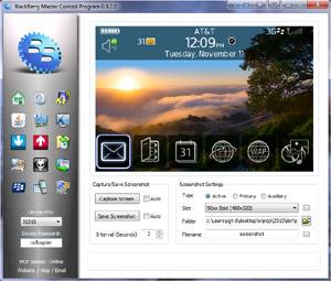 Capture d'écran du logiciel BlackBerry Master Control Prog...