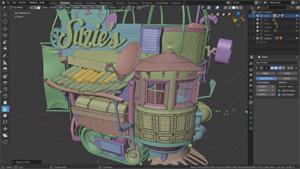Capture d'ecran du logiciel Blender 2.81a - MacOS