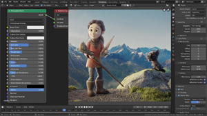 Capture d'ecran du logiciel Blender Portable 2.82 fr - Windows